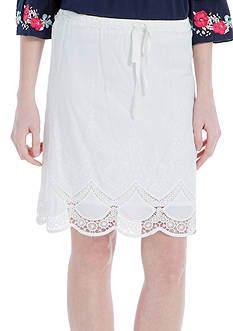Sophie Max Embroidered Cotton Skirt
