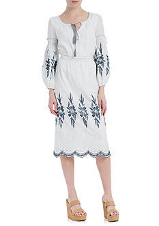Sophie Max Embroidered Cotton Dress