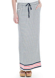Sophie Max Striped Drawstring Maxi Skirt