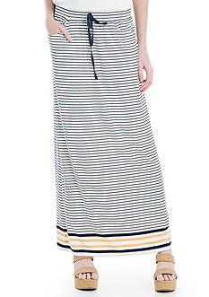 Sophie Max Striped Drawstring Maxi Skirt