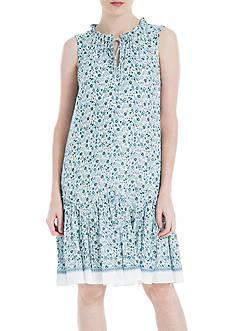 Sophie Max Printed Sleeveless Knee Length Dress