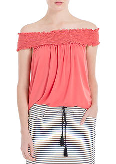 Sophie Max Off The Shoulder Smock Top