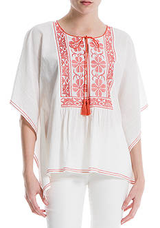 Sophie Max Embroidered Woven Top
