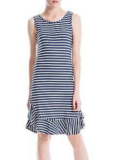 Sophie Max Stripe Flounce Hem Dress