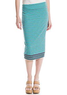 Sophie Max Stripe Gauze Midi Skirt