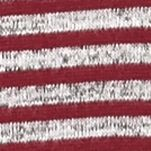 Kim Rogers Women Sale: Sangria/Grey Kim Rogers Three Quarter Sleeve Hacci Spliced Stripe