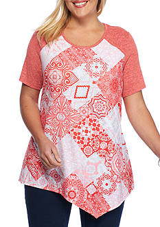 Kim Rogers Plus Size Printed Screen Tee
