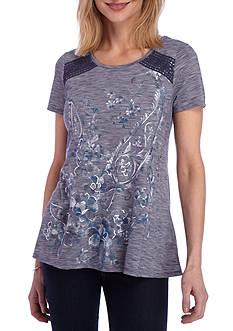 Kim Rogers Short Sleeve Printed Swing Tee