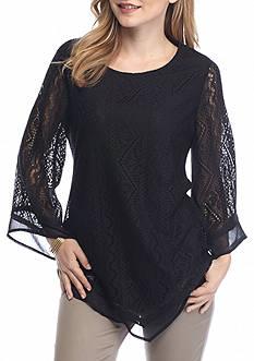 Kim Rogers Peitite Bell Sleeve Chiffon Tunic