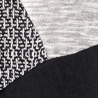 Kim Rogers Women Sale: Black/ Gray Kim Rogers Hacci Spliced Mixed Colorblock Top