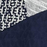 Kim Rogers Women Sale: Navy Kim Rogers Hacci Spliced Mixed Colorblock Top