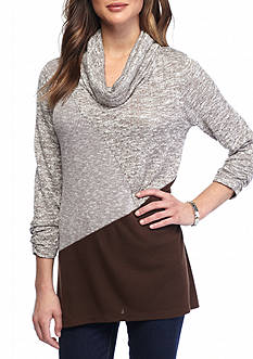 Kim Rogers Petite Cowl Neck Tunic Top