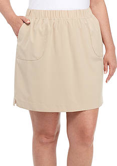Kim Rogers® Plus Size Feather Poly Skort
