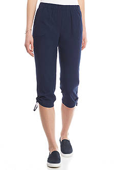 Kim Rogers Feather Weight Solid Capri Pant