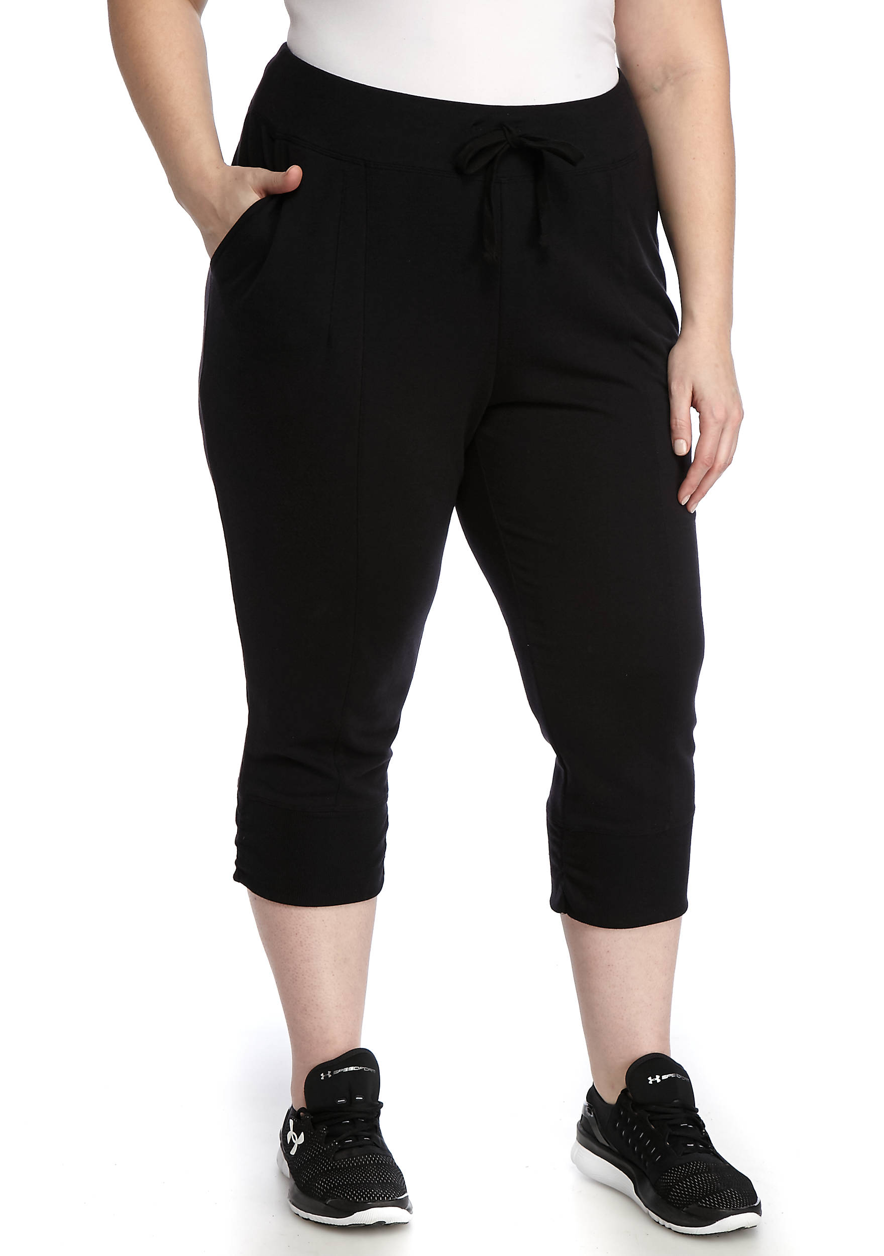 be inspired® Plus Size Jogger Capris | belk