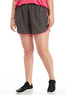 be inspired Plus-Size Active Modern Solid Running Shorts