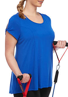 be inspired Plus-Size Cold Shoulder Swing Tee