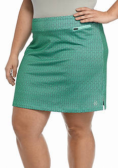 be inspired® Plus Size Basic Printed Skort