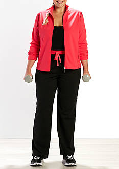 be inspired Plus Size Two Mock Neck Poly Side Panel Set