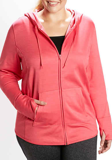 be inspired® Plus Size Heather Zip-Up Hoodie
