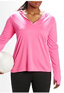 be inspired® Plus Size Split Neck Pullover