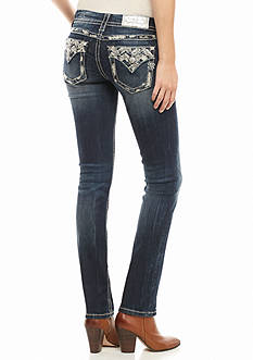 Miss Me Embellished Straight Leg Jean