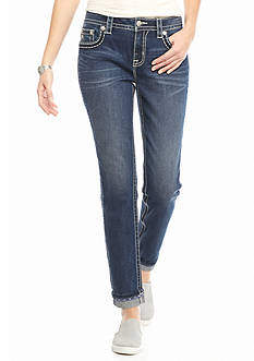 Miss Me Side Embroidered Slim Boyfriend Jeans