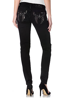 Miss Me Angel Wings Flap Pocket Skinny Jeans