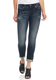 Miss Me Tonal Embroidered Ankle Skinny Jeans