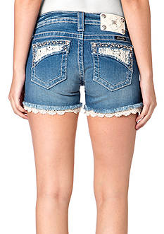 Miss Me Embellished Fray Short