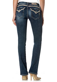 Miss Me Flap Pocket Slim Bootcut Jeans