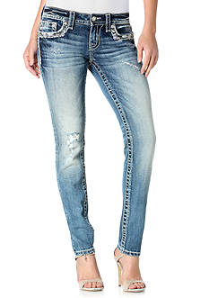 Miss Me Flap Pocket Embellished Skinny Jeans