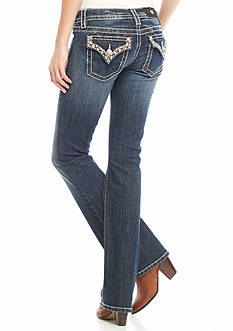 Miss Me Flap Stitch Boot Cut Jeans