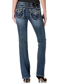 Miss Me Heavy Stitch Flap Pocket Slim Boot Jeans