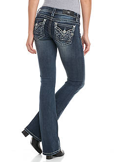 Miss Me Faux Flap Pocket Boot Jean