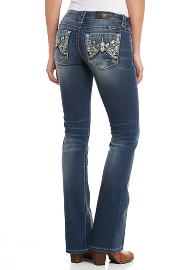 Miss Me Butterfly Wing Boot Jeans
