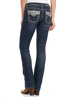 Miss Me Zig-Zag Slim Boot Jeans