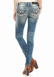 Miss Me Multi-Color Faux Flap Skinny Jean