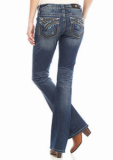 Miss Me Blue Stitch Boot Jeans