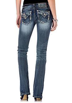 Miss Me Tribal Flap Pocket Bootcut Jeans