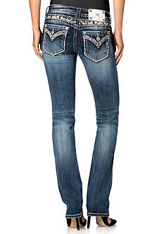 Miss Me Embroidered Flap Pocket Straight Leg Jeans