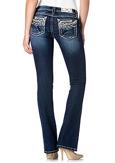 Miss Me Angel Wing Pocket Bootcut Jean
