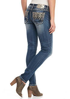Miss Me Aztec Pattern Skinny Jeans