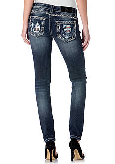 Miss Me Plaid Destructed Skinny Jeans