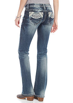 Miss Me Fan Pocket Bootcut Jeans