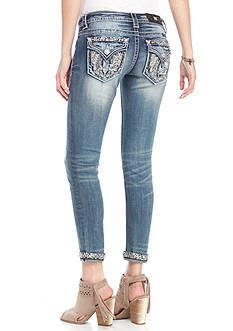 Miss Me Signature Ankle Cuffed Skinny Jeans