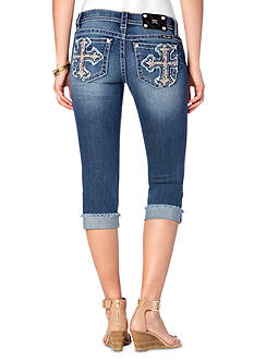 Miss Me Cross Pocket Capri Pant