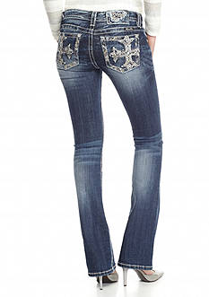 Miss Me Cross Embellished Bootcut Jeans