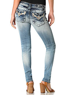 Miss Me Destructed Embellished Skinny Jeans