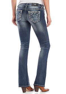 Miss Me Foullard Pocket Mid Rise Bootcut Jeans